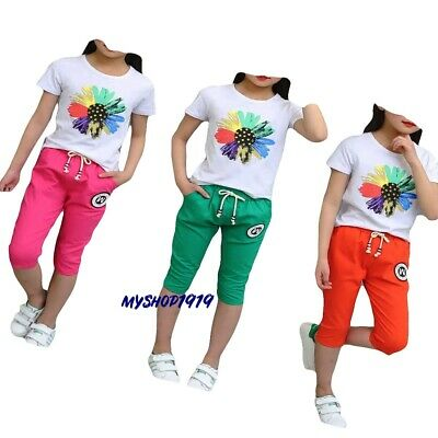 Girls Top and Pants sets Outfit Kids Summer Set Age 3 4 5 6 7 8 9 10 11 years
