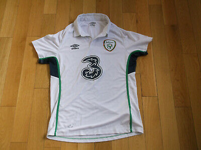 Ireland Men's Soccer Away Jersey 2014/15, Color White, Size M