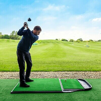 FORB Pro Driving Range Golf Practice Mat | Anti Skid Base | Stand & Fairway Mat