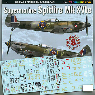 Spitfire Mk XVIe (Kagero Topcolors 24) FREE DECALS