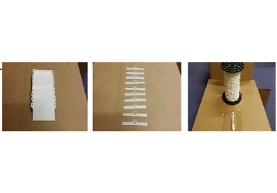 """Vertical Blind Repair Kit Spares - 89mm/3.5"""" - WHITE Hangers, Weights & Chain"""