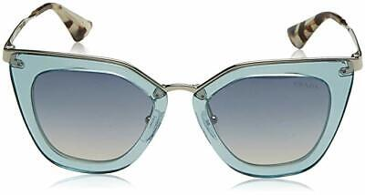 79d1c9088ff Prada Cat Eye Sunglasses PR 53SS VYS-5R0 Transparent Azure Light Blue  Gradient