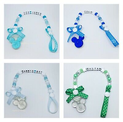Personalised Baby Boys Dummy Clip Pacifier/Soother saver