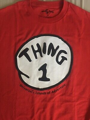 c48c38bd Dr Seuss Thing 1 T-shirt XL Red Universal Studios Orlando Cat in the Hat