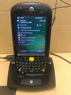 Black Symbol Motorola MC5590 Barcode Scanner PDA + Cradle Dock