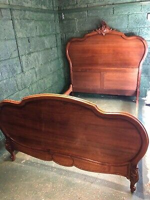 French Louis wooden double bed
