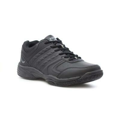 Ascot Mens Black Lace Up Trainer - Sizes 6,7,8,9,10,11,12,13