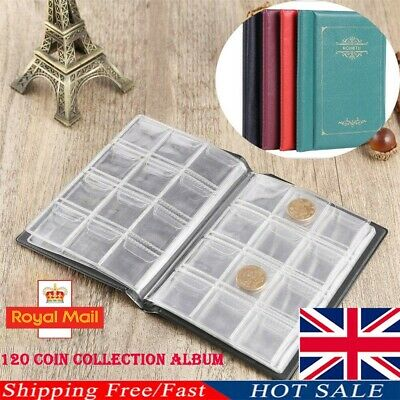120 Pocket Coin Collection Holders Storage Money Penny Album Book Folder NEW