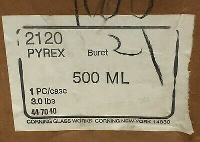 Pyrex 2120 Buret 500 mL Chemistry Lab Glassware