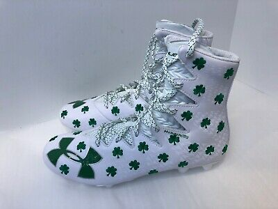 fd82dcbc5df1 Under Armour UA Limited Edition Shamrock Highlight Lacrosse Cleats Size 11.5