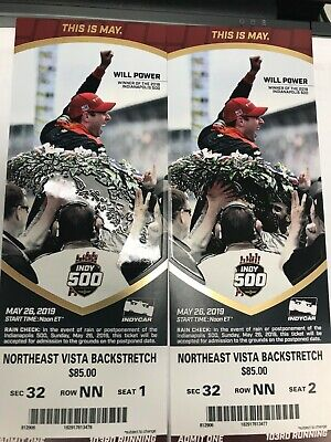 Indianapolis 500 tickets 2019  Aisle Seats Don't miss Danika Patrick this year