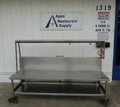 """Stainless Steel Work Table/Equipment Stand 86"""" X 27"""" #4056"""