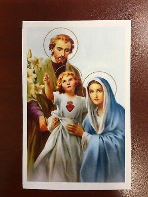 Holy Card Relic of the Holy Family, Jesus, Mary and Joseph #JMJ0001