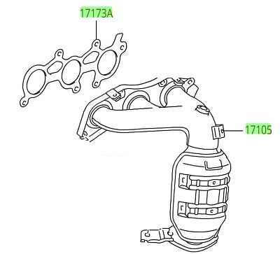 FOR TOYOTA 3 4L V6 Catalytic Converter Connects to Exhaust Manifold