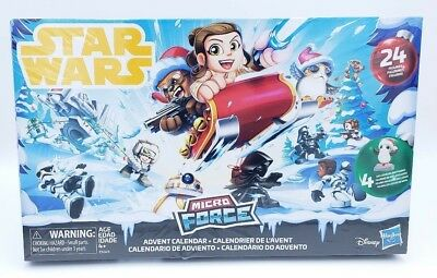 Disney Hasbro Star Wars Micro Force Advent Calendar 24 Figures 4 Exclusive X-Mas