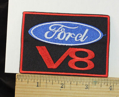 """FORD V8  Embroidered Patch Iron-on or Sew 3.75x2.5"""""""