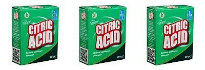 3 Citric Acid 250g Natural Cleaner Kitchen Appliances Limescale Remover Descaler