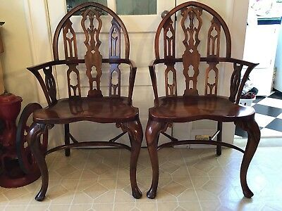 Theodore Alexander Gothic Windsor Chairs (2)