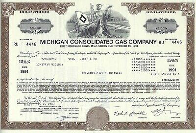 Michigan Consolidated Gas Company, 1983, 15 5/8% Bond due 1991 (25.000 $)
