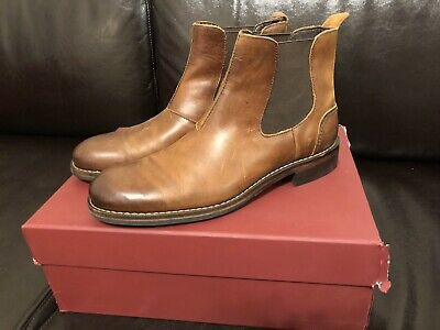 c3fc9481145 WOLVERINE MONTAGUE CHELSEA Boot, Brown Leather, Mens Size 8.5 D