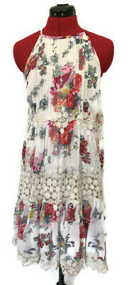 59015c0c10bd NWT ANTHROPOLOGIE RANNA GiLL DRESS KALILA FLORAL LACE HALTER SWING SIZE XS