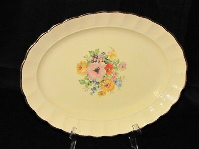 Vintage Canada Dubarry Imperial Ware Stoneware Pottery Floral Platter
