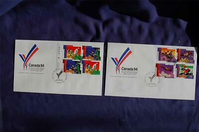 XV Commonwealth Games 43c Stamps 2 FDCs Canada Post Cachet Sc#1517-22 CA11