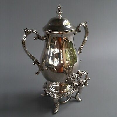 "Antique VTG  F B Rogers Silver Company 1883 Plated Coffee Urn Samovar 16"" Tall"