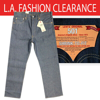 NWT MEN LEVI'S 501 2837 SHRINK TO FIT ORIGINAL BUTTON FLY STRAIGHT JEANS PANT