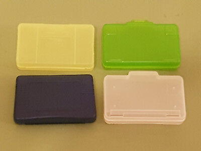 4 Coloured Plastic Protective Game Cases For Nintendo Game Boy Advance Games