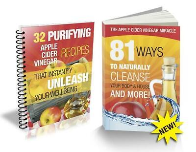 ACV ebook, 81ways to cleanse body,32 recipes,fitness abs wellbeing healthcare