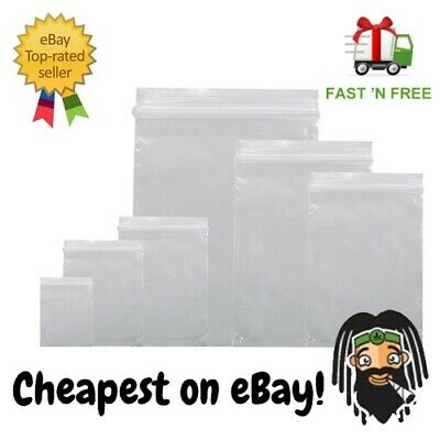 Transparent Thick Grip Sealed Bags Button Resealable Weed Baggy Tobacco Lock