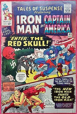 Tales of Suspense 65 1965 1st Silver Age appearance of Red Skull