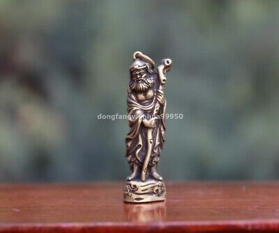 5 cm Chinese Temple Pure Copper Bronze Arhat Buddha Statue Pendant