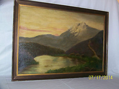 c19thC Continental School Original Oil On Canvas English Landscape Painting