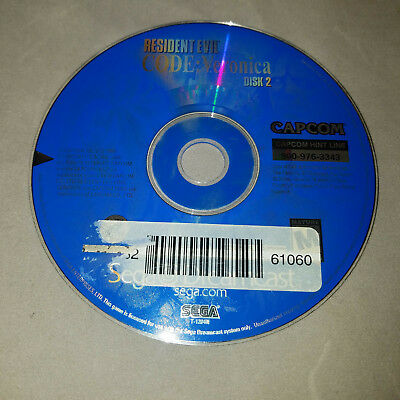 Resident Evil Code Veronica Disc 2 - DREAMCAST - DISC ONLY - FAST SHIPPING