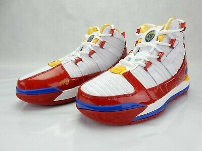 buy popular d025e d5c1f Lebron 3 III Superman Red Blue White Nike Zoom AO2434 100 S Mens Size 8  Sneakers