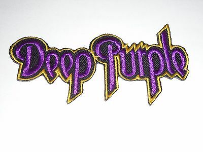 Deep Purple Iron On Embroidered Patch