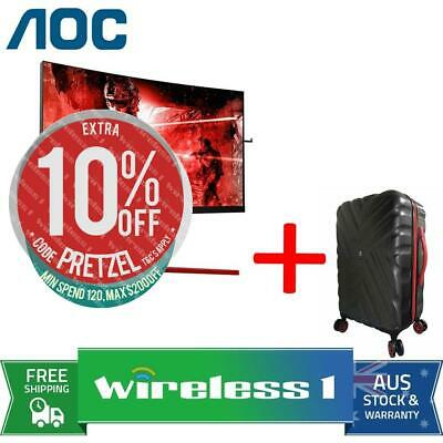 AOC AGON AG273QCG 27in QHD 1ms 165Hz Curved Gaming Monitor + Travelling Suitcase