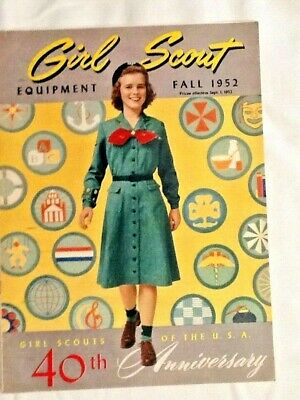 1952 FALL CATALOG, Girl Scouts 40th Anniversary Uniforms Badges Camp Clothes