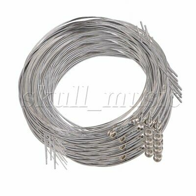 120pcs 009 .011 .015 .024 .032.040 Silver Steel String for Electric Guitar