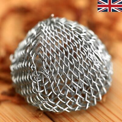 10pcs 17x15mm Screen Ball Steel Wire Filters for Smoking Pipe Tobacco UK STOCK