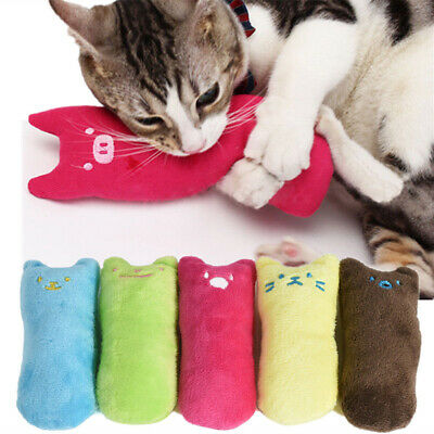 Cat Plush Pet Toy Soft Stuffed Catnip Pillow Teeth Grinding Claws Funny Toys US