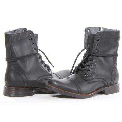 abb8398ec1b STEVE MADDEN MEN'S Troopah Lace-Up Boot,Black Leather,7.5 M US ...
