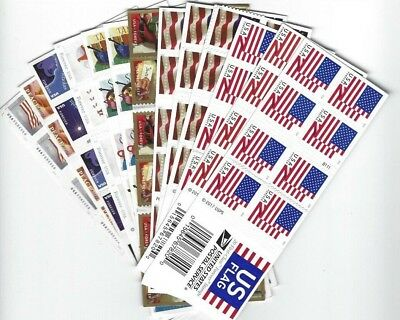 Random booklet of 20 Forever stamps for postage (minor flaws)