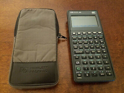 HP 48G GRAPHING Calculator with case- NICE!
