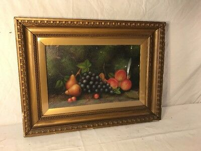 Antique Still Life Oil Painting English 1907 Signed ? Smith