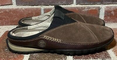 4ede9b16a7 Timberland Smartwool Power Lounger Brown Leather Slip-On Clogs - Men's Size  8.5