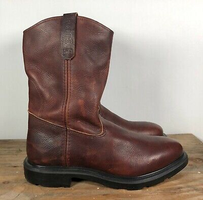 69171740c8d RED WINGS PECOS Men's 9.5 D Boots 1132 Pull On Dark Brown Work Hike ...