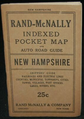 RAND-McNALLY INDEXED POCKET MAP AND SHIPPERS' GUIDE OF NEW HAMPSHIRE #261000